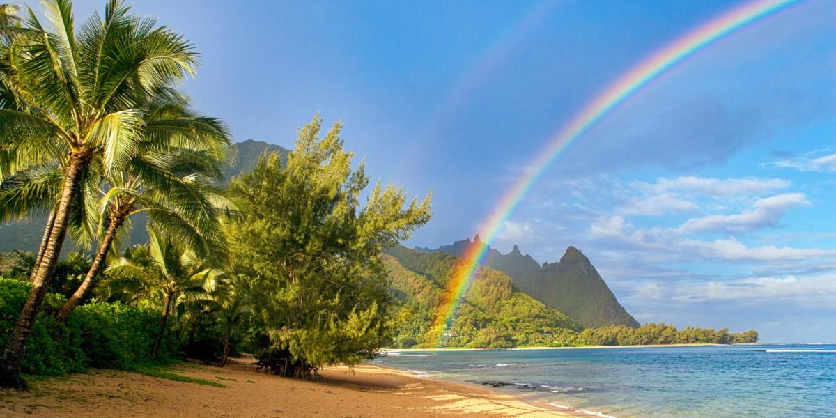 Havaí. O paraíso do arco-íris.
